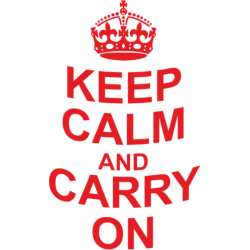 "Cana ""Keep calm and carry on"""