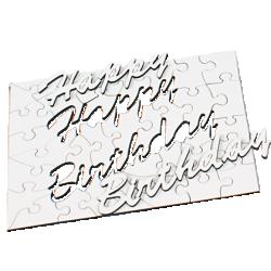 "Puzzle din lemn ""Happy Birthday"" cu 45 de piese"
