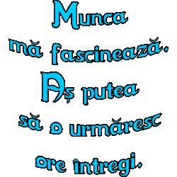 """Cana """"Munca ma fascineaza"""""""
