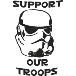 "Cana ""Support our troops"""