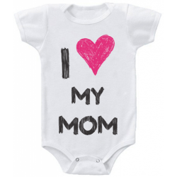 "Body bebelus ""I love my mom"""