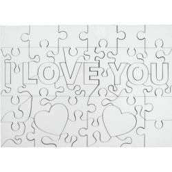 "Puzzle din lemn ""I love you"""