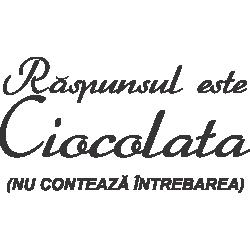 Raspunsul Este Ciocolata