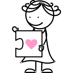 Puzzle inimioara (fata)