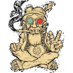 Smoking Hippie