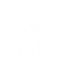 I'm not a nerd