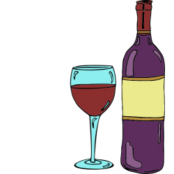 A friend with wine