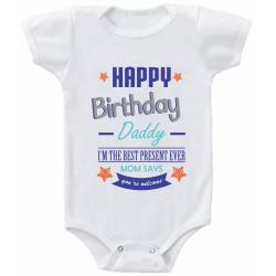 """Body bebelus """"Happy birthday daddy"""""""