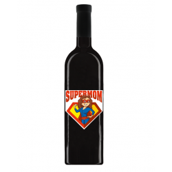 """Vin """"Maiastru"""" Personalizat - """"Super Mom"""""""