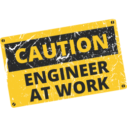 Caution Engineer At Work