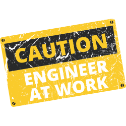 Caution Engineer At Work