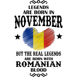 Real Legends Are Born In November