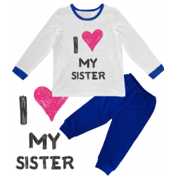 "Pijama copil ""I love my sister"""