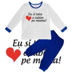 """Pijama copil """"Eu si tata o iubim pe mama"""""""