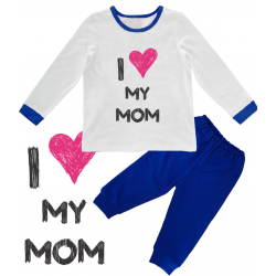 "Pijama copil ""I love my mom"""