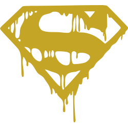 Superman Melting Logo