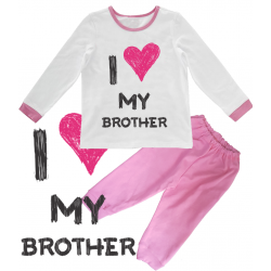 "Pijama copil ""I love my brother"""