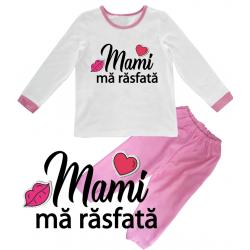 "Pijama copil ""Mami ma rasfata"""