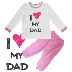 "Pijama copil ""I love my dad"""