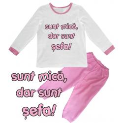 "Pijama copil  ""Sunt sefa"""