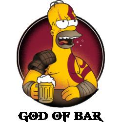 Tricou Homer Simpson God Of Bar