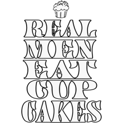 Real men eat cupcakes