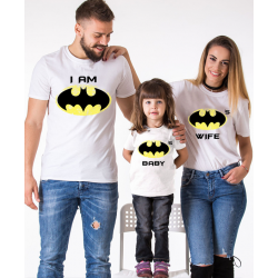 "Set tricouri familie ""Bat family"""