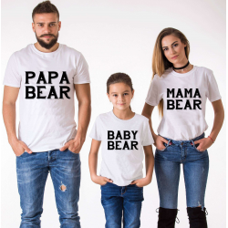 "Set tricouri familie ""Bear family"""