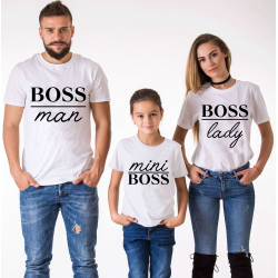 "Set tricouri familie ""Boss family"""