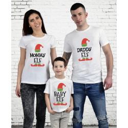 """Set tricouri familie """"Elf family"""""""