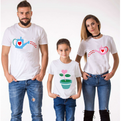 "Set tricouri familie ""Family love"""