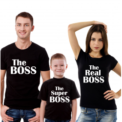 "Set tricouri familie ""The super boss"""