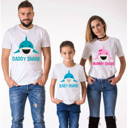 Set tricouri familie Shark
