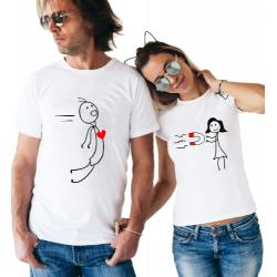"""Set tricouri cupluri """"Magnetic attraction"""""""