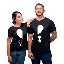 """Set tricouri cupluri """"Pisicute"""""""