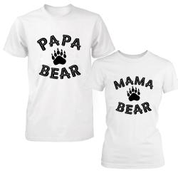 """Set tricouri cupluri """"Bear couple"""""""