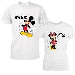 """Set tricouri cupluri """"Minnie and Mickey"""""""