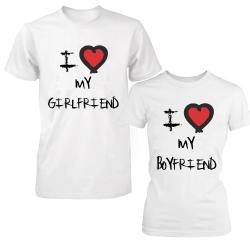 """Set tricouri cupluri """"I love my girlfriend/boyfriend"""""""