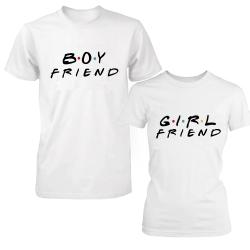 "Set tricouri cupluri ""Boyfriend-Girlfriend"""