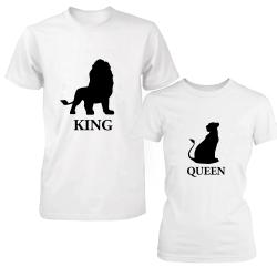 "Set tricouri cupluri ""Lion king"""