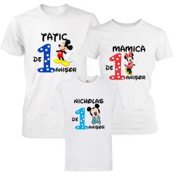 "Set tricouri familie ""Aniversare Baietel"""