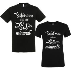 """Set tricouri cupluri """"Sot minunat"""""""
