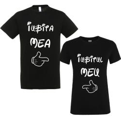 "Set tricouri cupluri ""Iubitul/iubita mea"""