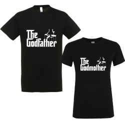 "Set 2 tricouri pentru nasi ""The godfather/the godmother"""