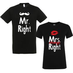 """Set tricouri cupluri """"Mr. right"""""""