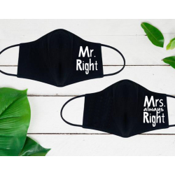 """Set de masti personalizate pentru cupluri """"Mr. and Mrs"""""""