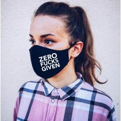 """Masca personalizata """"Zero fucks given"""""""