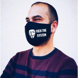 """Masca personalizata """"Fuck the system"""""""