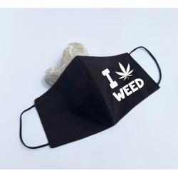 """Masca personalizata """"I love weed"""""""