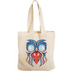 Sacosa bumbac personalizata - Bird mask